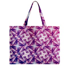 Purple Shatter Geometric Pattern Zipper Mini Tote Bag by TanyaDraws