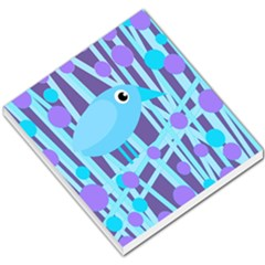 Blue And Purple Bird Small Memo Pads