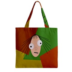 Crazy Girl Zipper Grocery Tote Bag by Valentinaart