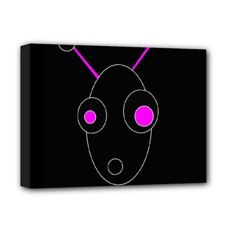 Purple Alien Deluxe Canvas 16  X 12   by Valentinaart