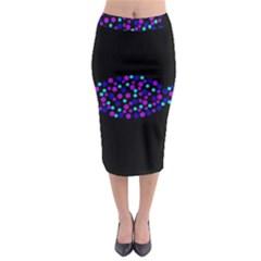 Purple Fish Midi Pencil Skirt