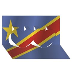 Flag Of Democratic Republic Of The Congo Twin Hearts 3D Greeting Card (8x4) by artpics