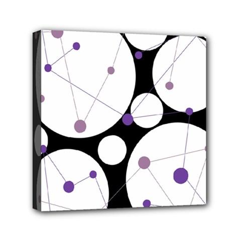 Decorative Circles   Purple Mini Canvas 6  X 6  by Valentinaart