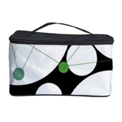 Decorative Circles   Green Cosmetic Storage Case by Valentinaart