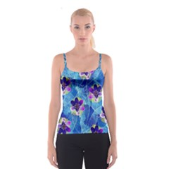 Purple Flowers Spaghetti Strap Top
