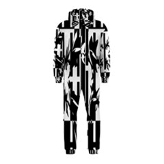 Black And White Abstraction Hooded Jumpsuit (kids) by Valentinaart