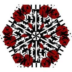 Red, Black And White Elegant Design Mini Folding Umbrellas by Valentinaart