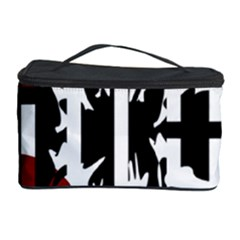 Red, Black And White Elegant Design Cosmetic Storage Case by Valentinaart