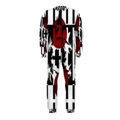 Red, Black And White Elegant Design Onepiece Jumpsuit (kids) by Valentinaart