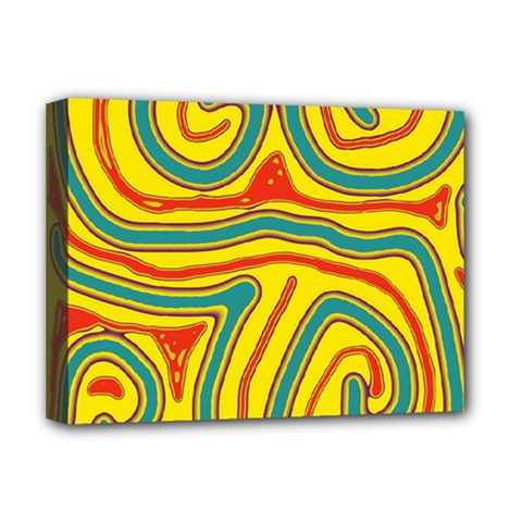 Colorful decorative lines Deluxe Canvas 16  x 12   by Valentinaart