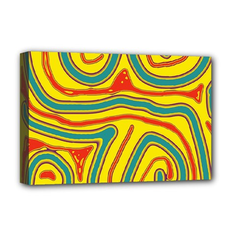 Colorful Decorative Lines Deluxe Canvas 18  X 12   by Valentinaart