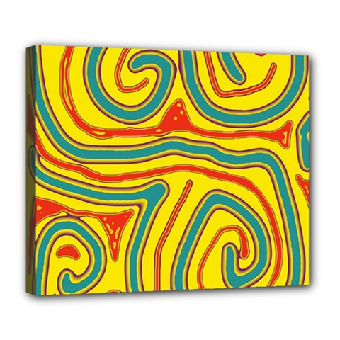 Colorful Decorative Lines Deluxe Canvas 24  X 20   by Valentinaart