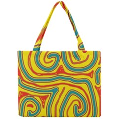 Colorful Decorative Lines Mini Tote Bag by Valentinaart