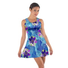 Purple Flowers Cotton Racerback Dress