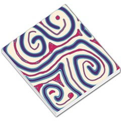 Blue And Red Lines Small Memo Pads by Valentinaart