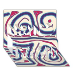 Blue And Red Lines You Rock 3d Greeting Card (7x5) by Valentinaart