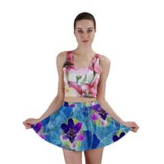 Purple Flowers Mini Skirt
