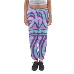 Purple Lines Women s Jogger Sweatpants