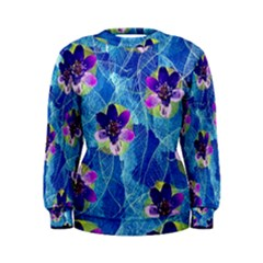 Purple Flowers Women s Sweatshirt