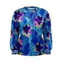 Purple Flowers Women s Sweatshirt View1