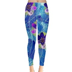 Purple Flowers Leggings