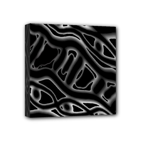 Black And White Decorative Design Mini Canvas 4  X 4  by Valentinaart