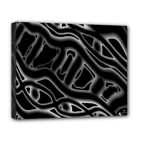 Black And White Decorative Design Deluxe Canvas 20  X 16   by Valentinaart