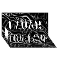Black And White Decorative Design Laugh Live Love 3d Greeting Card (8x4) by Valentinaart