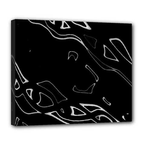 Black And White Deluxe Canvas 24  X 20   by Valentinaart