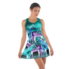 Horses Under A Galaxy Cotton Racerback Dress