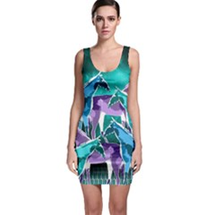 Horses Under A Galaxy Bodycon Dress