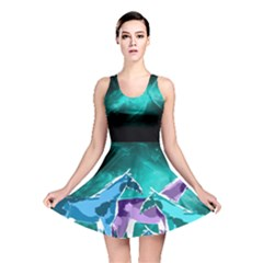 Horses Under A Galaxy Reversible Skater Dress by DanaeStudio