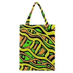 Yellow, Green And Oragne Abstract Art Classic Tote Bag by Valentinaart