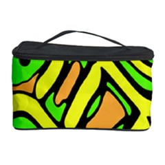 Yellow, Green And Oragne Abstract Art Cosmetic Storage Case by Valentinaart