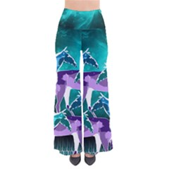 Horses Under A Galaxy Women s Chic Palazzo Pants