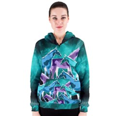 Horses Under A Galaxy Women s Zipper Hoodie