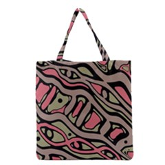 Decorative Abstract Art Grocery Tote Bag by Valentinaart