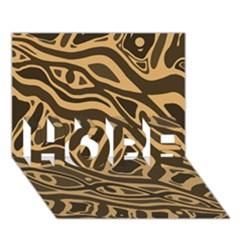 Brown Abstract Art Hope 3d Greeting Card (7x5)