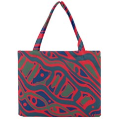 Red And Green Abstract Art Mini Tote Bag by Valentinaart