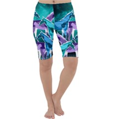 Horses Under A Galaxy Cropped Leggings