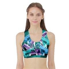 Horses Under A Galaxy Sports Bra With Border