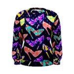 Colorful High Heels Pattern Women s Sweatshirt