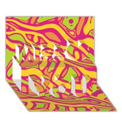 Orange Hot Abstract Art Miss You 3d Greeting Card (7x5) by Valentinaart