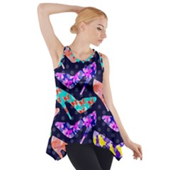 Colorful High Heels Pattern Side Drop Tank Tunic by DanaeStudio