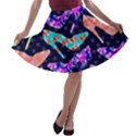 Colorful High Heels Pattern A-line Skater Skirt View1