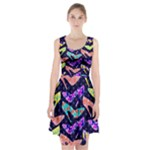 Colorful High Heels Pattern Racerback Midi Dress