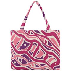 Pink And Purple Abstract Art Mini Tote Bag by Valentinaart