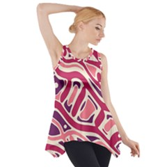 Pink and purple abstract art Side Drop Tank Tunic by Valentinaart