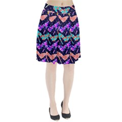 Colorful High Heels Pattern Pleated Skirt