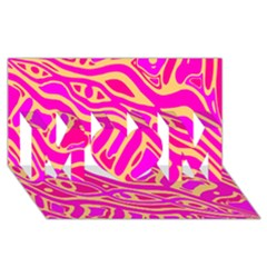 Pink Abstract Art Mom 3d Greeting Card (8x4) by Valentinaart